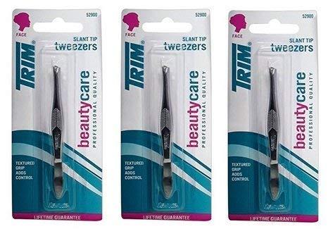 Trim BeautyCare Slant Tip Tweezers (3 Pack)