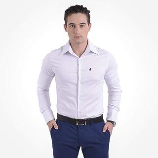 Camisa Social Masculina Branca Super Slim 200107