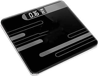 BINGFANG-W Balanza báscula de baño de Cuerpo, Escalas Inteligente electrónico con Pantalla LCD Cuerpo de pesaje Báscula Digital Home, 180Kg 400 Libras Negro/Cocina