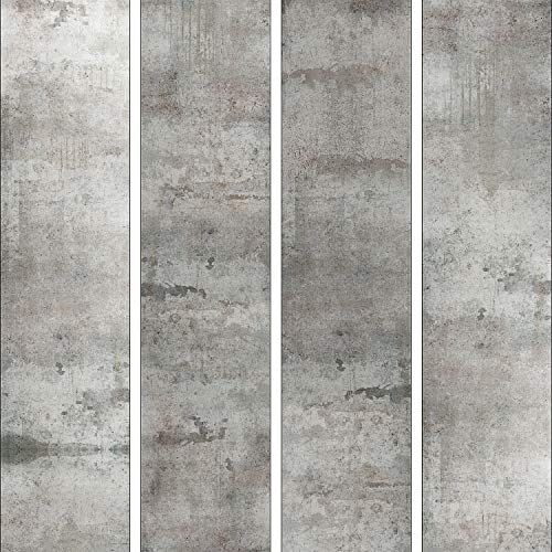 murando - PURO TAPETE - Realistische Betonoptik Tapete ohne Rapport und Versatz 10m Vlies Tapetenrolle Wandtapete modern design Fototapete - Beton grau f-A-0050-j-a