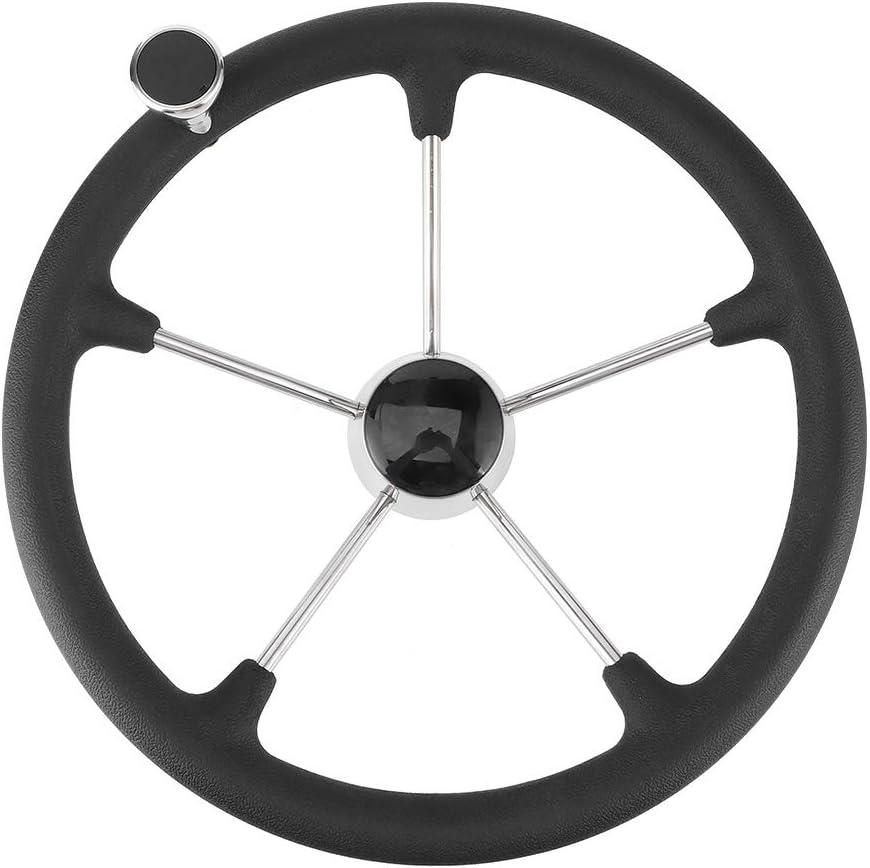 Steering Wheel 15-1 Miami Mall Boston Mall 2in 5 Spoke Black Foam with Handle Soft Grip