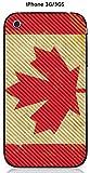 Onozo Coque Apple iPhone 3G / 3GS Design Drapeau Canada Vintage Effet Carbone