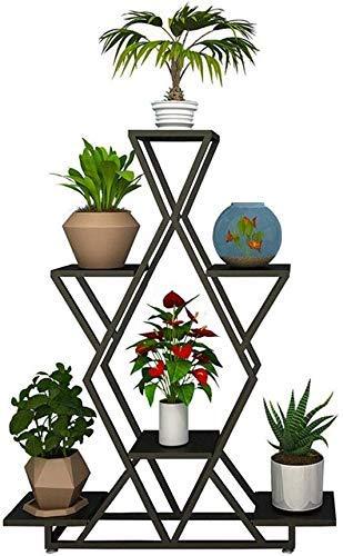 ZJN-JN Estantes Flores Moderna Minimalista de 4 Niveles Planta de la Flor del Metal Soporte de visualización Ollas Titular de Interior Exterior Sala de Estar Jardín Balcón del Arte del Hierro del e