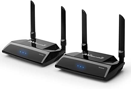 Package 24 Groups 5.8 GHz 480P Wireless AV Transmitter and Receiver, 200M Wireless Extender Set with IR Extension Cable for DVD, DVR, IPTV, Security Cameras and STB