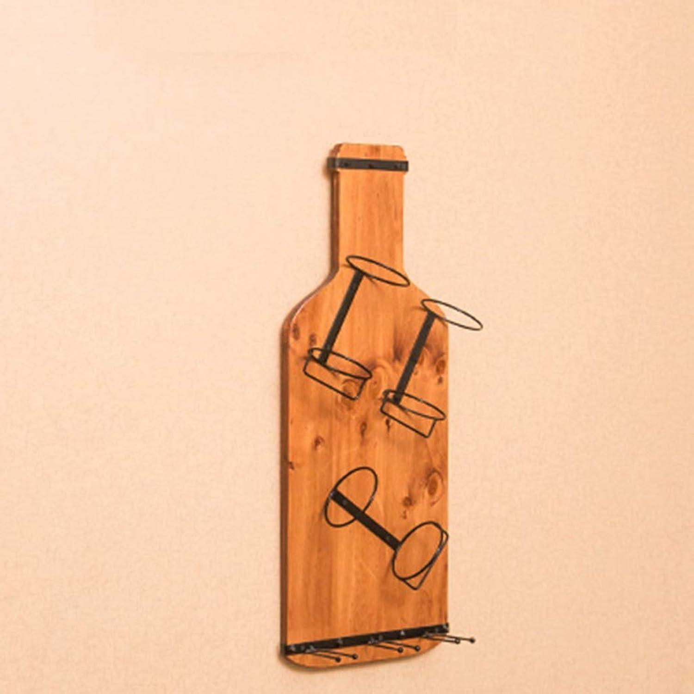 YJWOZ Estante De Madera Maciza Estante De La Parojo De La Sala De Estar Estante De La Copa del Restaurante Vino Estante De Vidrio Estantería de Vino