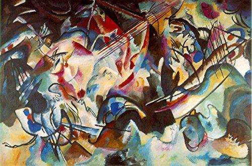 Sessel Kunstdruck Wassily Kandinsky–Titel der Durchführung: Material N ° 6–Ölgemälde auf Leinwand–Kopie maschinell ein Künstler Maler Profi Expert erlaubt Werke von Kandinsky–Maße: 60/90cm