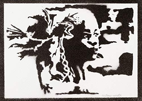 Poster Daenerys Targaryen Juego de Tronos Grafiti Hecho a Mano - Handmade Street Art -...