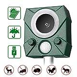 zonpor Cat Repellent, Ultrasonic Fox Repeller Battery Operated Animal Cat Deterrents Scarer