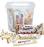 650g Ferrero white Mix mit weißer Schokolade in 2 Liter Kunststoff-Eimer mit Kinder Schoko-Bons white, Kinder Bueno white, Duplo white & Duplo Chocnut white