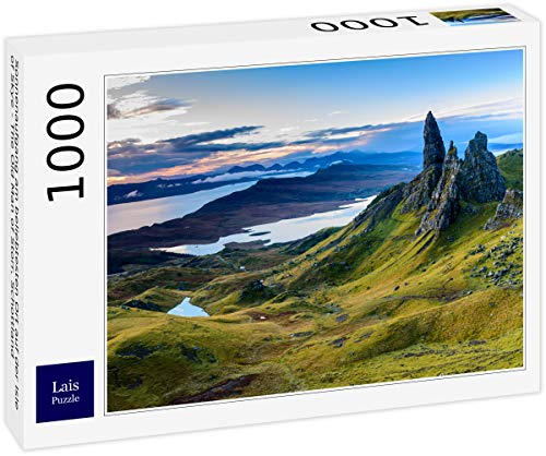 Lais Jigsaw Puzzle Sunrise en el lugar más popular de la Isla de Skye - El viejo hombre de Storr, Escocia 1000 piezas
