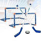 Outinhao Hover Air Hockey Set, Hockey eléctrico, Hockey sobre Piso y Hockey sobre Rodilla - 2 Palos de Hockey + 2 goles +1 Pelota de Hockey (1 Set)
