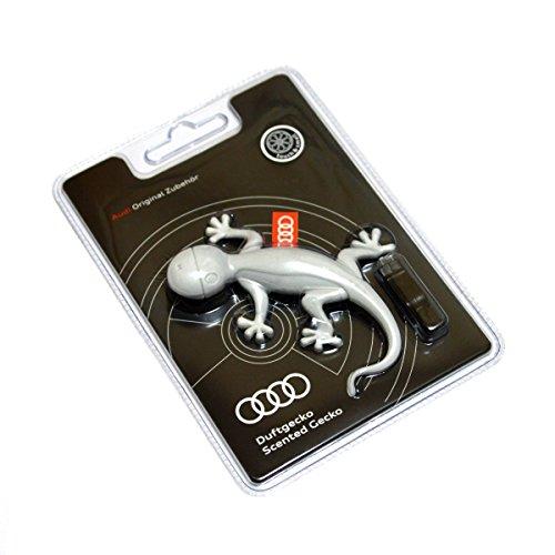 Audi 000087009A Diffuseur de Parfum en Forme de Gecko, Senteur Orange, Gris Clair