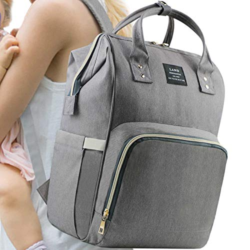 Land Baby Diaper Bag Large Capacity Mommy Backpack Baby Nappy Tote Bags Multi-Function Travelling Backpack