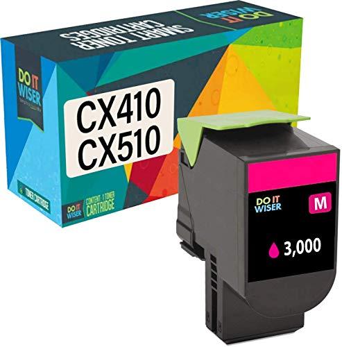 Do it Wiser Compatible Toner Cartridge Replacement for Lexmark 801HM CX410de CX410dte CX410e CX510dthe CX510dhe CX510de - 80C1HM0 - Magenta (High Yield - 3,000 Pages)