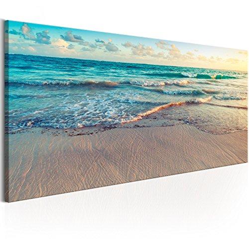 murando Cuadro en Lienzo Playa Mar 135x45 cm 1 Parte impresión en Material Tejido no Tejido Cuadro de Pared impresión artística fotografía Imagen gráfica decoración Cascada Naturaleza c-B-0358-b-a