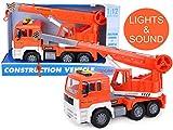 Toyland® - 30cm Kranwagen Mit Licht & Ton - Jungen Bauspielzeug Fahrzeuge