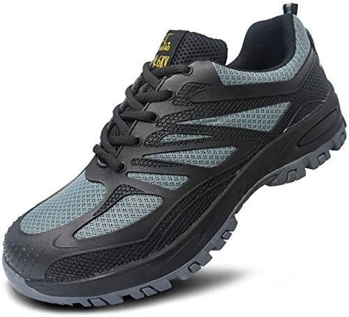 LBHH Zapatos de Trabajo,Botas de Seguridad Seguridad para Hombres con Punteras de Acero,Hombres Mujeres Zapatillas de Deporte KPU Puntera de Material Compuesto Ultraligero Entresuela de Kevlar
