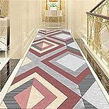 MOM AI Korridor Runner Teppich Flur Oberfl?Che Teppiche Wohnkultur Moderne Teppich, verschlei?fest, Gr??e, Geometrische Form, Dicke: 8mm (Farbe: A, Gr??e: 1.4x3m)