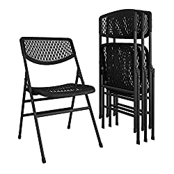 COSCO Commercial Resin Mesh Folding Chair