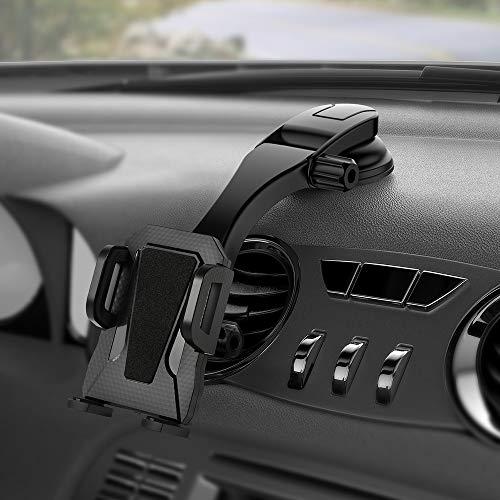 Miracase - Soporte ajustable para teléfono móvil de coche, compatible con iPad iPhone 7, 8, X, XR, XS, Max, Samsung Galaxy S9+ y S10+