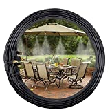 Daduleeh Outdoor Misting Cooling System,Misting Line,Brass Mist Nozzles for Patio Garden Greenhouse Outdoor Mister Trampoline for waterpark 10m