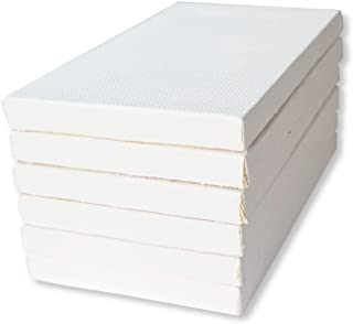 LWR CRAFTS Mini Stretched Canvas 7.5 cm X 12.5 cm Pack of 6