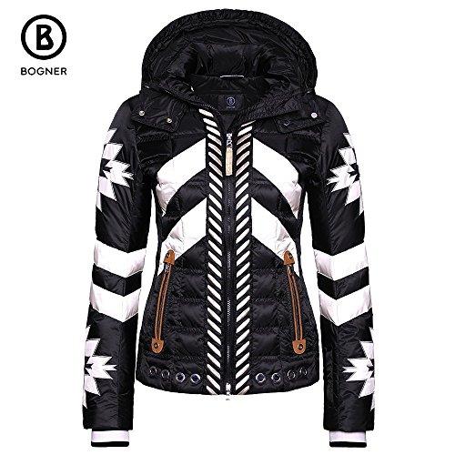 Bogner Daunen-Skijacke Elia für Damen (schwarz/Multicolor weiß)-42