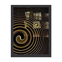 INOV 催眠 抽象美術 ポスター フレーム付き おしゃれ インテリア インテリア雑貨 アート アートポスター 絵画 絵 壁掛け 30X40CM