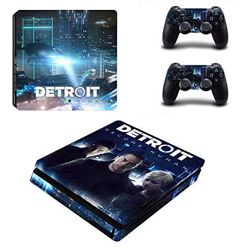 FENGLING Detroit Become Human Stickers Play Station 4 Skin Sticker Decals para Playstation 4 Ps4 Slim Consola y Controlador Skin