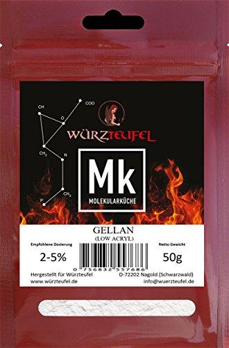 Gellan, Low Acryl Gellan Verdickungsmittel E418 hochwertige Lebensmittelqualität. 2 Beutel je 50g. (100g)