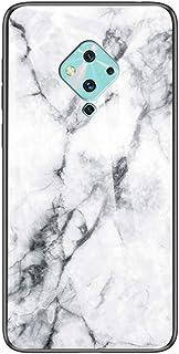 """MOONCASE ケース 用 Vivo S5, 超薄型 柔らかい TPU 耐衝撃性 引っかき傷に強い 指紋防止 カラフルなパターンとガラス ケース 用の Vivo S5 6.44"""" (白い)"""