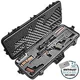 Case Club Pre-Cut FNH PS90, IWI Tavor, Kriss Vector, Berreta CX4 Storm, Kel Tec RFB, DT SRS-A1 Covert, Steyr AUG Pre-Made Waterproof Rifle Case with Accessory Box & Silica Gel to Help Prevent Gun Rust