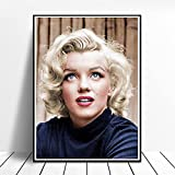 ETZKYA Múltiples Tamaños Marilyn Monroe Póster Sala de Estar Habitación Decoracion Marilyn Monroe Foto Impresión Dormitorio Hogar Pared Arte Moda Lienzo Obra de Arte Marilyn Monroe Sexy Cuadros