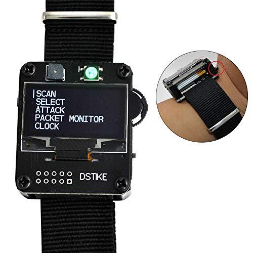 TXYFYP ESP8266 Placa De Desarrollo De Pulsera,WiFi Deauther Smart Watch Placa De Desarrollo De Pulsera,Deauther Watch V1 Pantalla OLED Reloj LED Indicador Placa De Desarrollo De Pulsera para DSTIKE