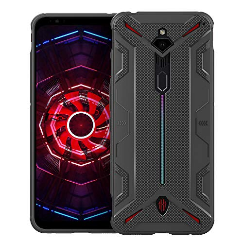 CRESEE Red Magic 3 Hülle Case, Schutzhülle Soft Silikon Cover Bumper Stoßfest Handyhülle Fall für ZTE Nubia Red Magic 3 / Red Magic 3s (Grau)