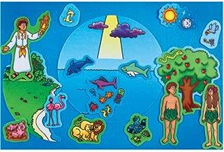 Little Folk Visuals Beginners Bible: Creation Precut Flannel/Felt Board Figures, 17 Pieces Set