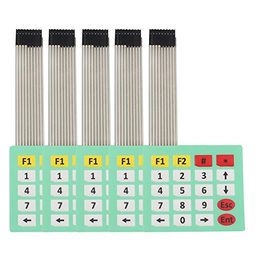 HALJIA 5 PCS 4 X 5 Matrix Array Teclado 20 Tecla Membrana