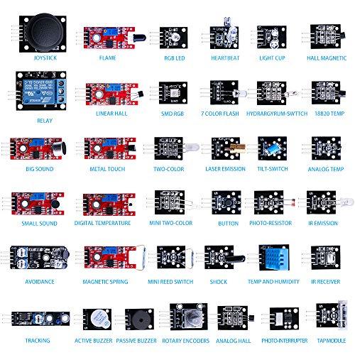 Elegoo EL-KIT-000 37-in-1 Sensor Module Kit for Arduino ...