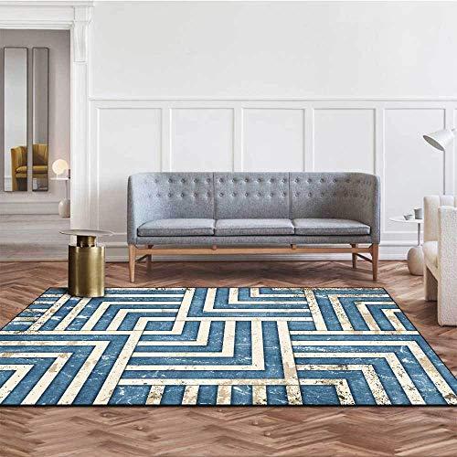 Alfombra Comoda Salon Diseño Simple de líneas geométricas de Textura de mármol...