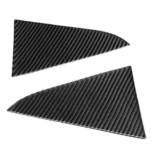 Tbest Dreieck-Fensterabdeckung, hintere Dreieck-Fensterabdeckung, Paar hintere Dreieck-Fenster-Aufkleberabdeckung Kohlefaser-Dekorplatte Passend für Chevrolet Cruze 2009-2015