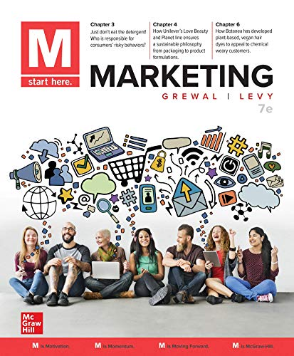 Compare Textbook Prices for M: Marketing 7 Edition ISBN 9781260260359 by Grewal, Dhruv,Levy, Michael