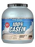 Body Attack 100% Casein Protein, reich an essentiellen Aminosäuren - Muskelaufbau und Erhalt, Low Carb - für Sportler, Athleten & Figurbewusste - Cookies n Cream, 1,8 kg Eiweißpulver