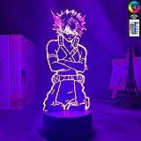 Luz De Ilusión 3D Luz De Noche Led Decoración De Habitación Infantil Para Niños My Hero Academia Katsuki Bakugo Figura 7 Regalo De Lámpara De Escritorio Que Cambia De Color