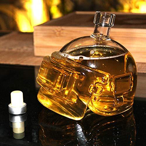 Helm Crystal Wijnpot Helm Fles Creatief Glas Schedel Vodka Fles Wijn Decanter Glas Unieke Helm Ontwerp voor Bar Tool