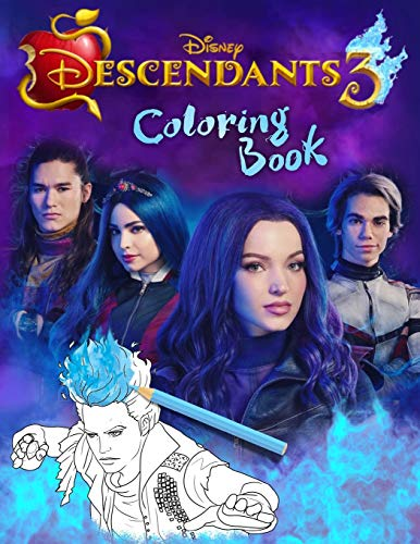 Descendants 3 Coloring Book Descendants Jumbo 3 Coloring Book With Unofficial Premium Images For Kids And Adults