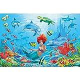 GREAT ART Fototapete Kinderzimmer – Meerjungfrau –