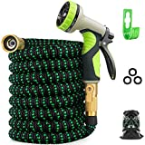 Zalotte Expandable Garden Hose with 9 Function Nozzle,...