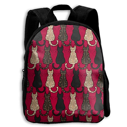 jenny-shop Tabby and Black Cats Toddler Backpack 13 'Kids School Backpacks for Boys and Girls