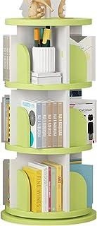 Serre-livres 360 ° Tour Rotate Bookshelf, Boîte de Rangement de Table de Bureau, bibliothèque d'enfants, cultivez l'intérê...