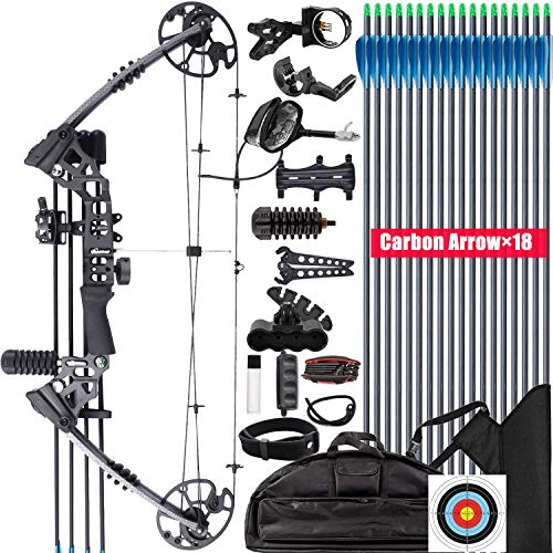 XGeek Compound Bow and Arrow kit, Hunting & Target Bow, with All Accessories, USA-Made Limbs, Draw Weight Adjustable 20-70 Lbs, Draw Length 17-29', 320 Fps Speed,for Hunter and Archery Enthusiast (3)